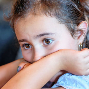 Worried young girl